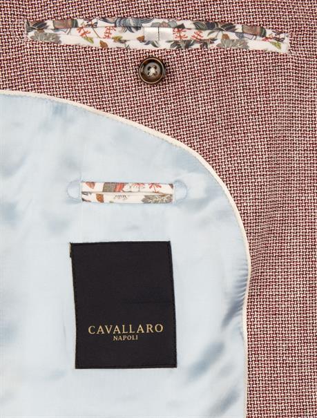 Cavallaro colbert Slim Fit 1301026 in het Rood