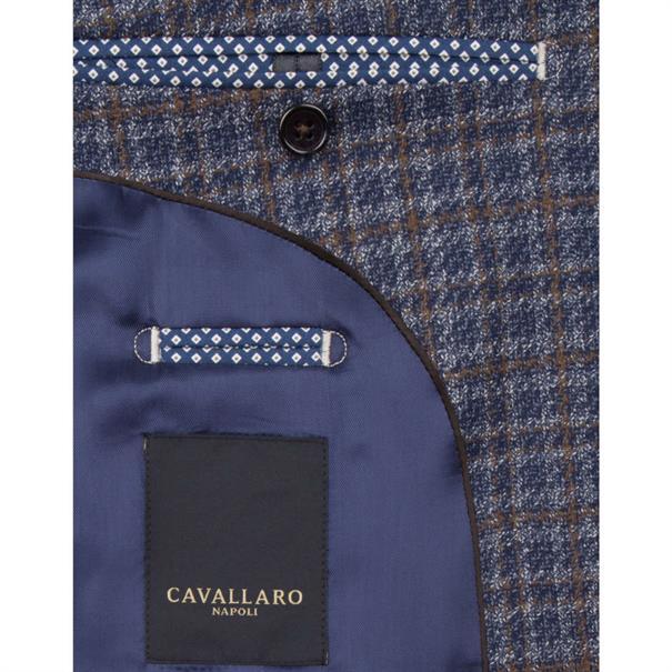 Cavallaro colbert Slim Fit 1395027-60001 in het Marine