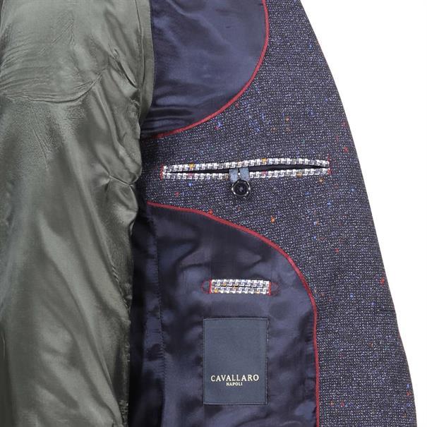 Cavallaro colbert Slim Fit 1397001 in het Donker Blauw