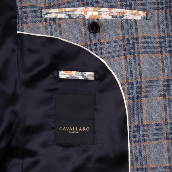 Cavallaro colberts Slim Fit 1301018 in het Marine