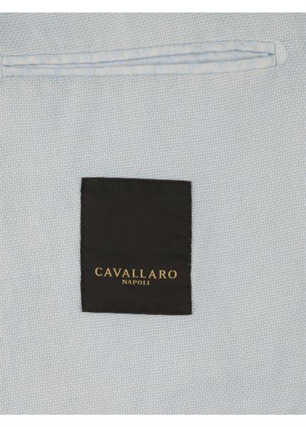 Cavallaro colberts Slim Fit 1301028 in het Licht Blauw