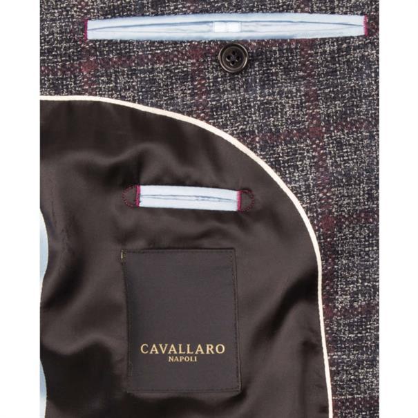 Cavallaro colberts Slim Fit 1395003-63001 in het Donker Blauw