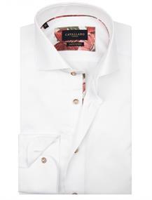 Cavallaro overhemd 1001073 in het Wit