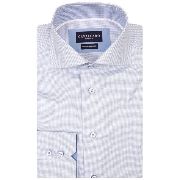 Cavallaro overhemd 1081013 in het Licht Blauw