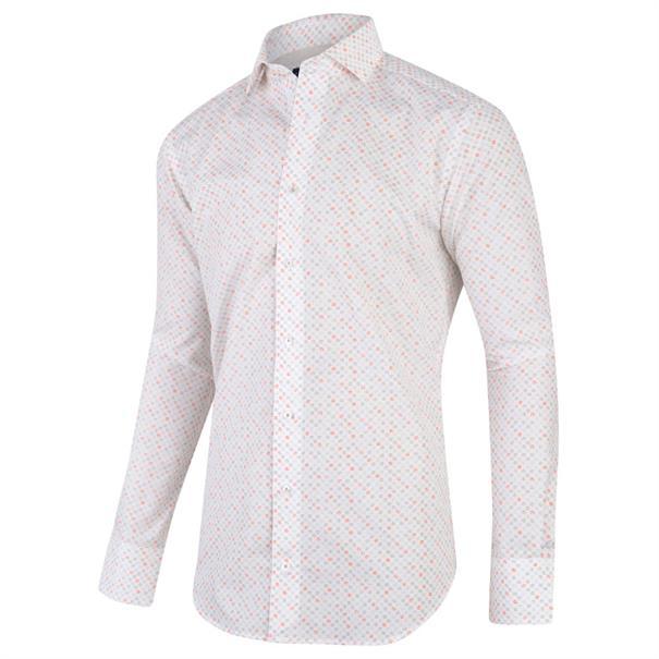 Cavallaro overhemd 1081015 in het Wit/Beige
