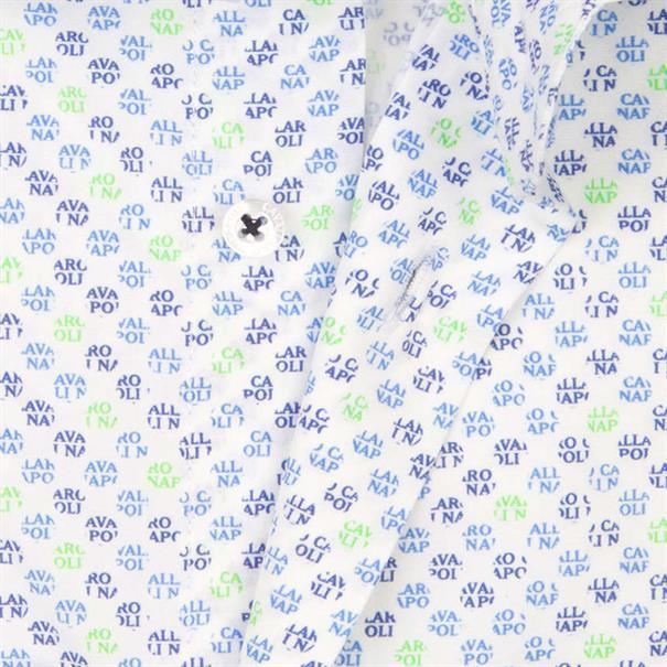 Cavallaro overhemd 1081015 in het Wit/Groen