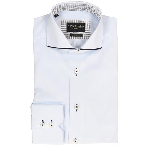 Cavallaro overhemd 1086079 in het Licht Blauw
