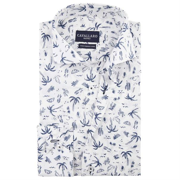 Cavallaro overhemd 1091021 in het Wit