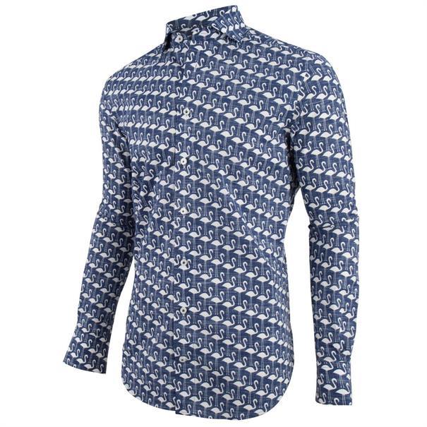 Cavallaro overhemd 1091028 in het Donker Blauw