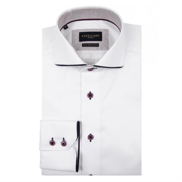 Cavallaro overhemd 1095020-10000 in het Wit