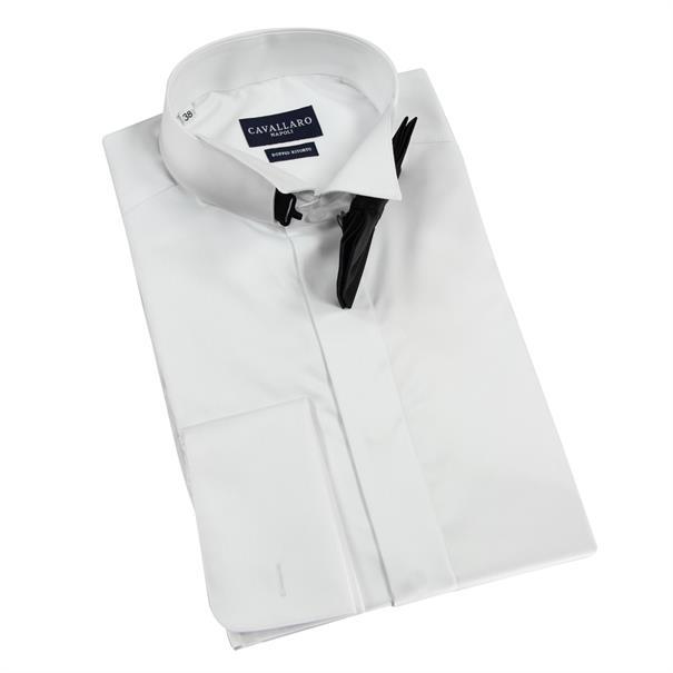 Cavallaro overhemd Bianco Ceremonial in het Wit