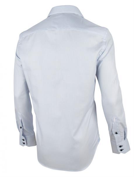 Cavallaro overhemd Tailored Fit 1001008 in het Licht Blauw