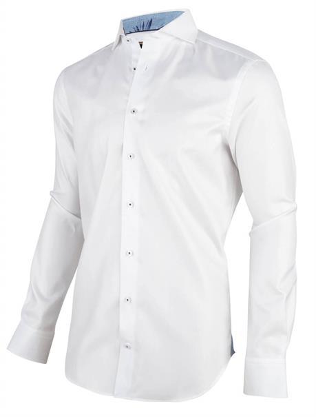 Cavallaro overhemd Tailored Fit 1001036 in het Wit