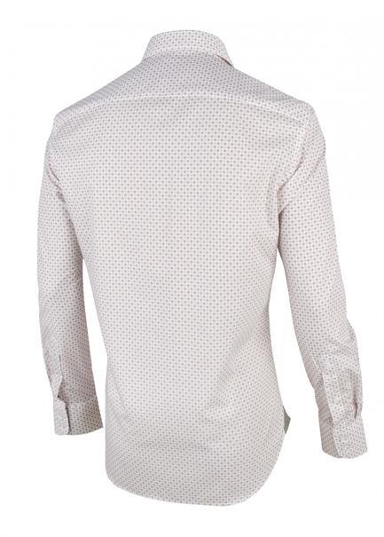Cavallaro overhemd Tailored Fit 1001044 in het Ecru