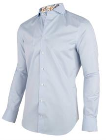 Cavallaro overhemd Tailored Fit 1001059 in het Licht Blauw