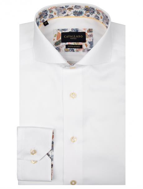 Cavallaro overhemd Tailored Fit 1001061 in het Wit