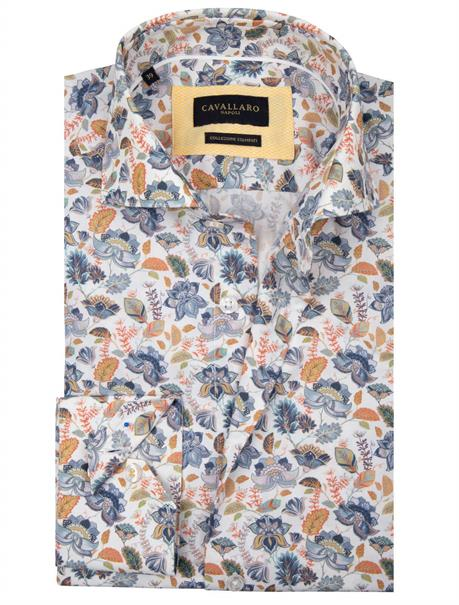 Cavallaro overhemd Tailored Fit 1001062 in het Wit