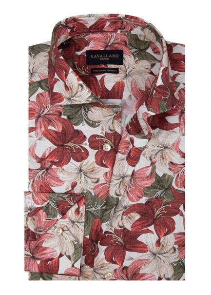 Cavallaro overhemd Tailored Fit 1001074 in het Rood