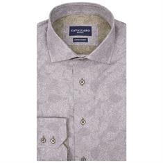 Cavallaro overhemd Tailored Fit 1085046 in het Grijs