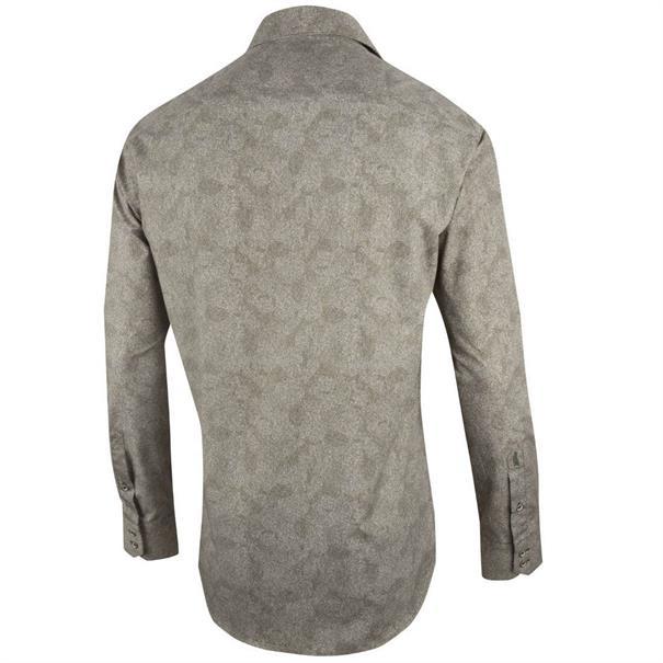 Cavallaro overhemd Tailored Fit 1085046 in het Groen