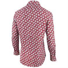 Cavallaro overhemd Tailored Fit 1091008 in het Rood