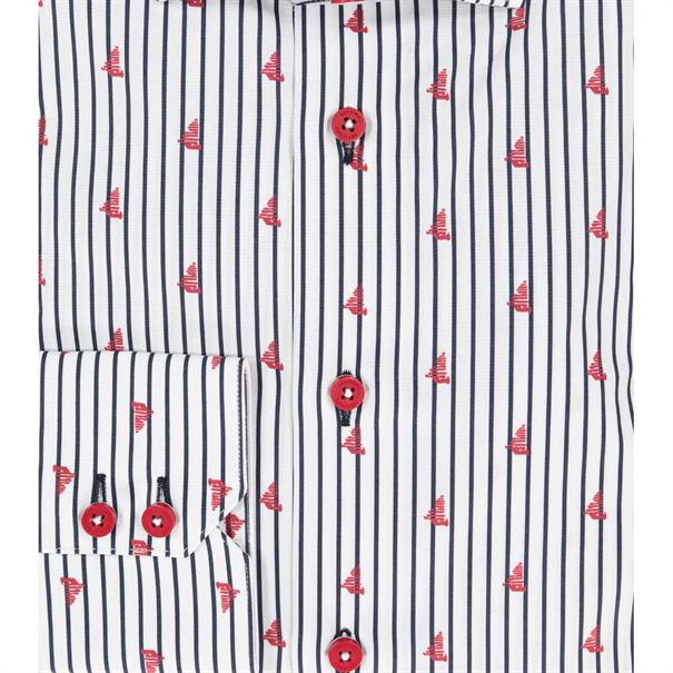 Cavallaro overhemd Tailored Fit 1091014 in het Multicolor