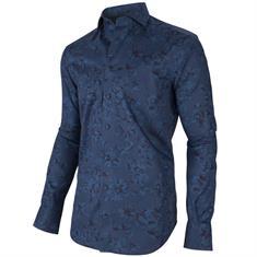 Cavallaro overhemd Tailored Fit 1095005-63006 in het Donker Blauw