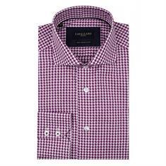 Cavallaro overhemd Tailored Fit 1095010-65103 in het Paars