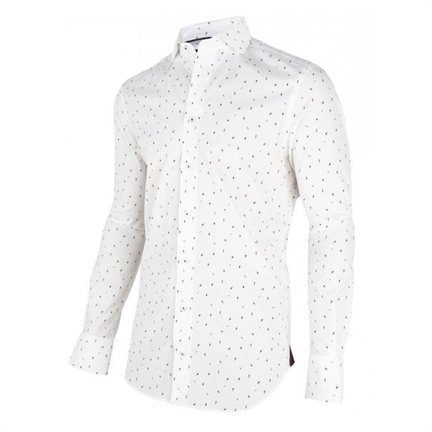 Cavallaro overhemd Tailored Fit 1095014-10653 in het Ecru