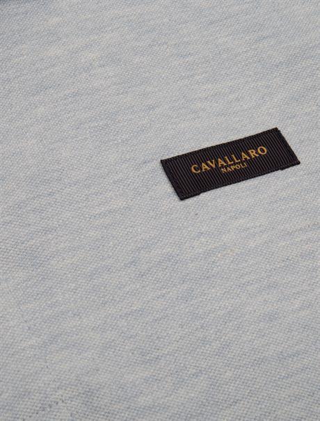 Cavallaro polo's Slim Fit 116211004 in het Licht Blauw