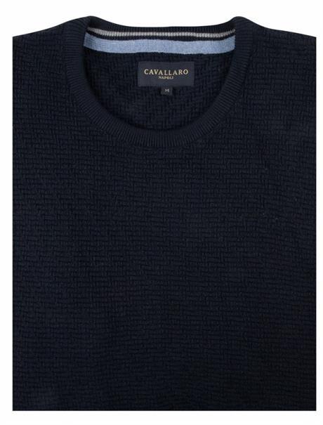 Cavallaro ronde hals trui 118205003 in het Hemels Blauw