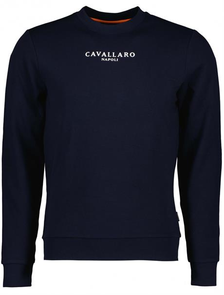 Cavallaro ronde hals trui 120212015 in het Donker Blauw