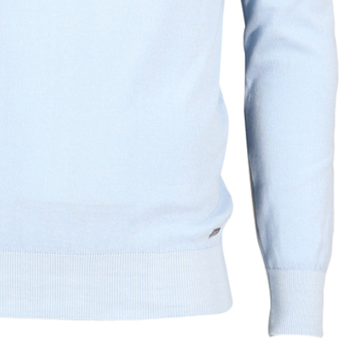 Cavallaro ronde hals trui Slim Fit 1801014 in het Licht Blauw
