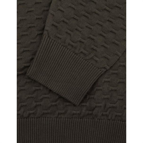 Cavallaro ronde hals trui Slim Fit 1891005 in het Army
