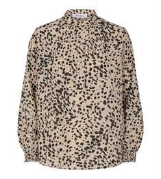 Co'Couture blouse 95532 in het Zwart / Beige