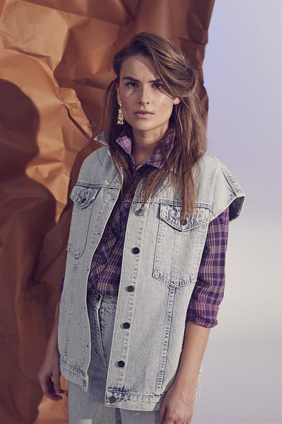 Co'Couture vest 90174 in het Licht Denim