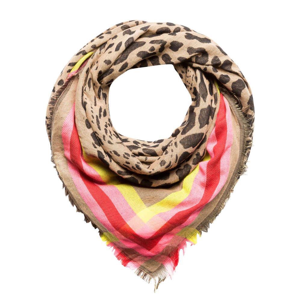 CODELLO, Dames Doek 'ANIMAL', camel / pink