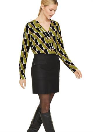 Comma blouse 2058173 in het Groen
