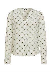 Comma blouse 2058173 in het Licht Geel
