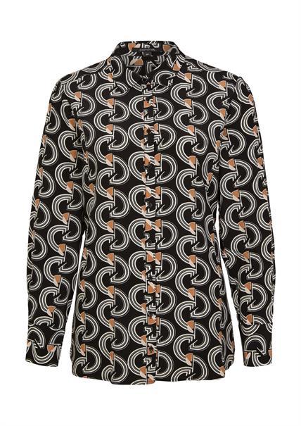 Comma blouse 2058559 in het Zwart / Wit
