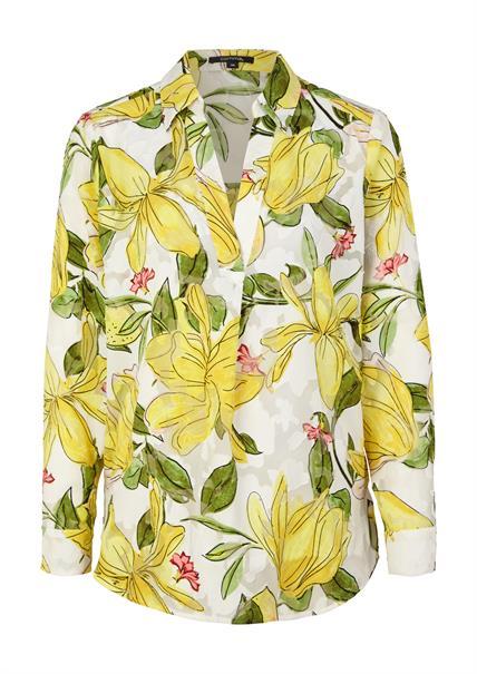 Comma blouse 2059729 in het Licht Geel