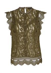Comma blouse 2059770 in het Kaky