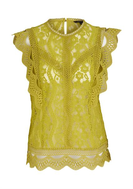 Comma blouse 2059770 in het Licht Groen
