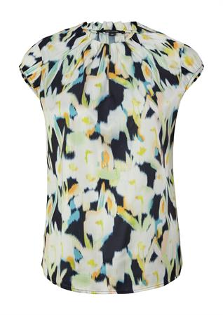Comma blouse 2100257 in het Donker Blauw