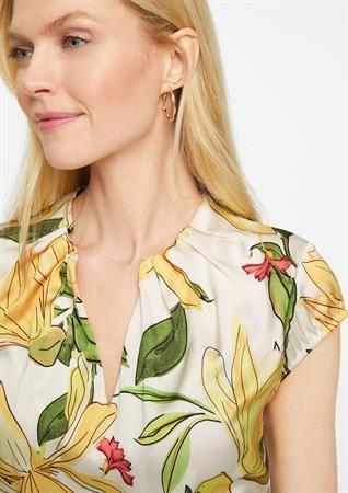 Comma blouse 2100361 in het Licht Geel