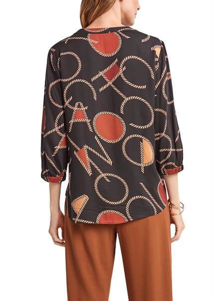 Comma blouse 2103315 in het Multicolor