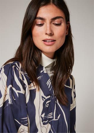 Comma blouse 2106425 in het Donker Blauw
