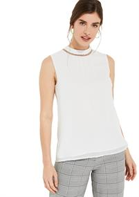 Comma blouse 81002132192 in het Spierwit