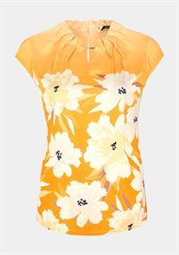 Comma blouse 81003120938 in het Oker