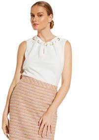 Comma blouse 81003333602 in het Wit